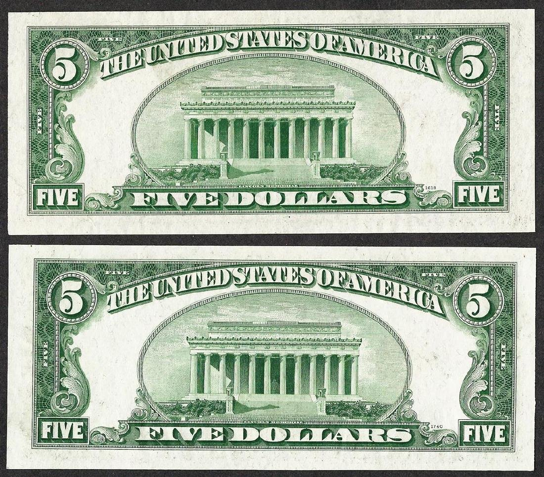 Lot of 1928E & 1928F $5 Legal Tender Notes - 2