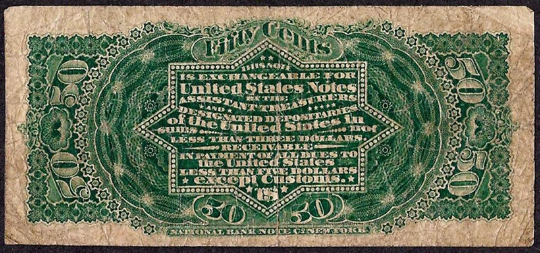 March 3, 1863 Fourth Issue 50 Cent Fractional Currency - 2