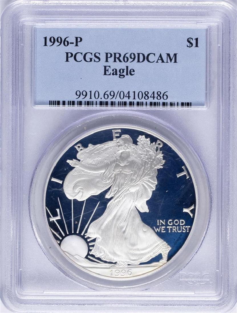 1996-P $1 American Silver Eagle Proof Coin PCGS