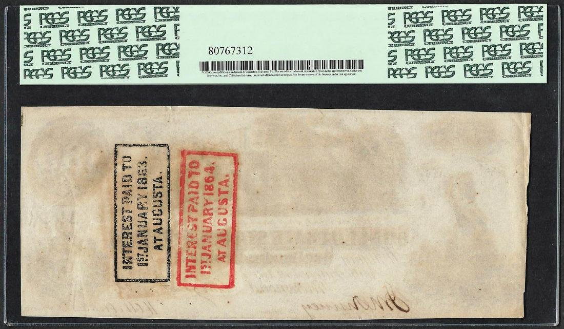 1862 $100 Confederate States of America Note T-39 PCGS - 2