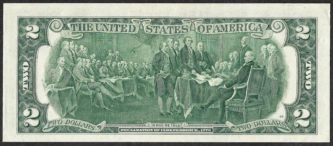 1976 $2 Federal Reserve Note ERROR Inverted Serial - 2