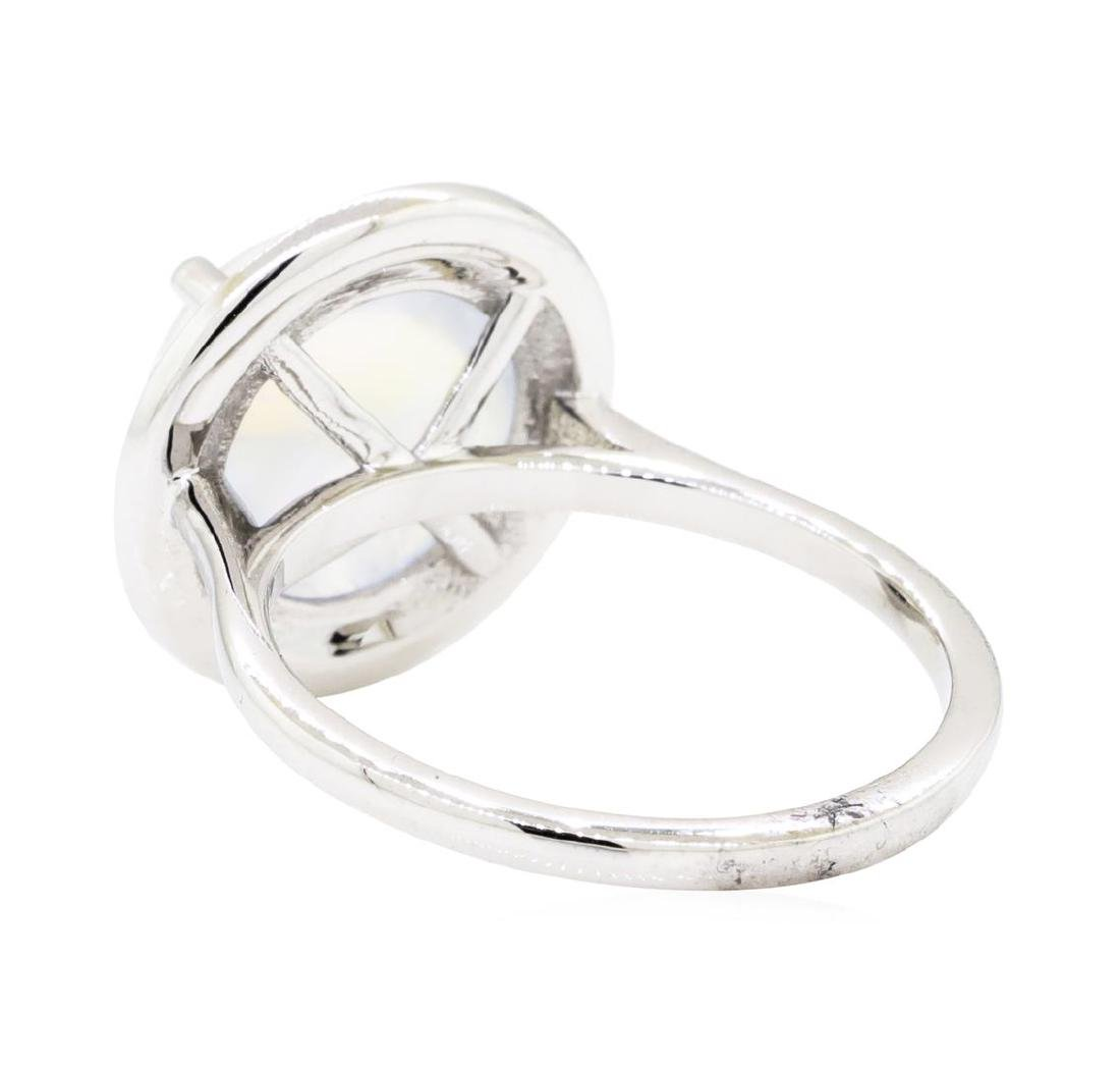 14KT White Gold 4.82 ctw Moonstone and Diamond Ring - 3