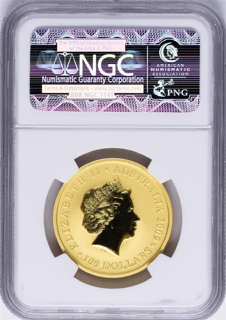 2009P $100 Australia Kangaroo Gold Coin NGC MS69 - 2