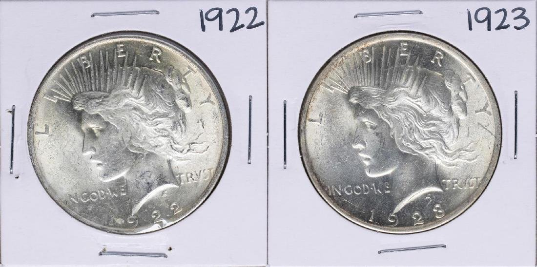 Lot of 1922-1923 $1 Peace Silver Dollar Coins