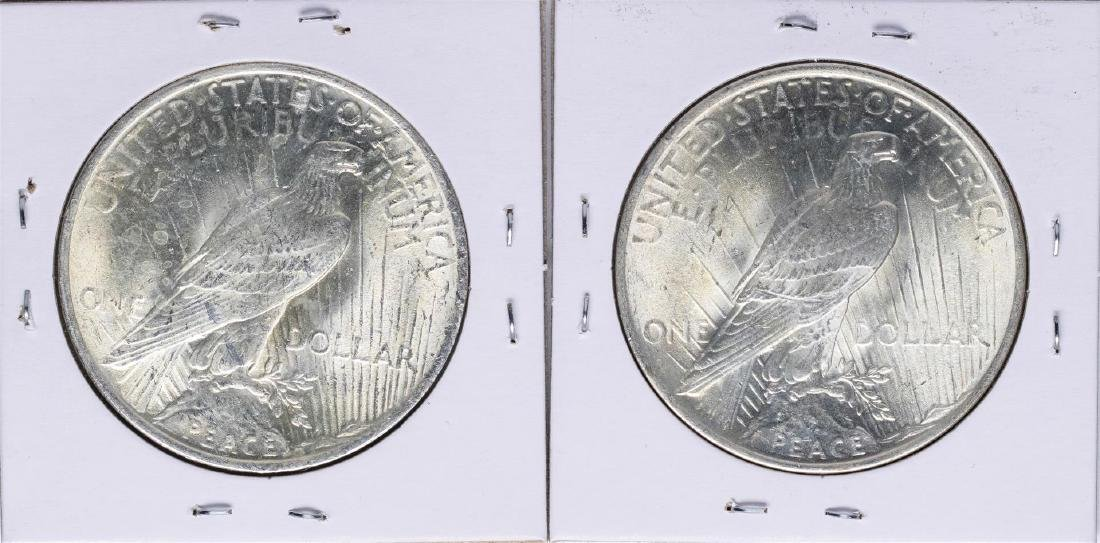 Lot of 1922-1923 $1 Peace Silver Dollar Coins - 2