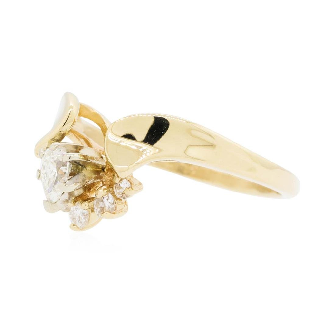 14KT Yellow Gold Lady's 0.25 ctw Diamond Ring - 2