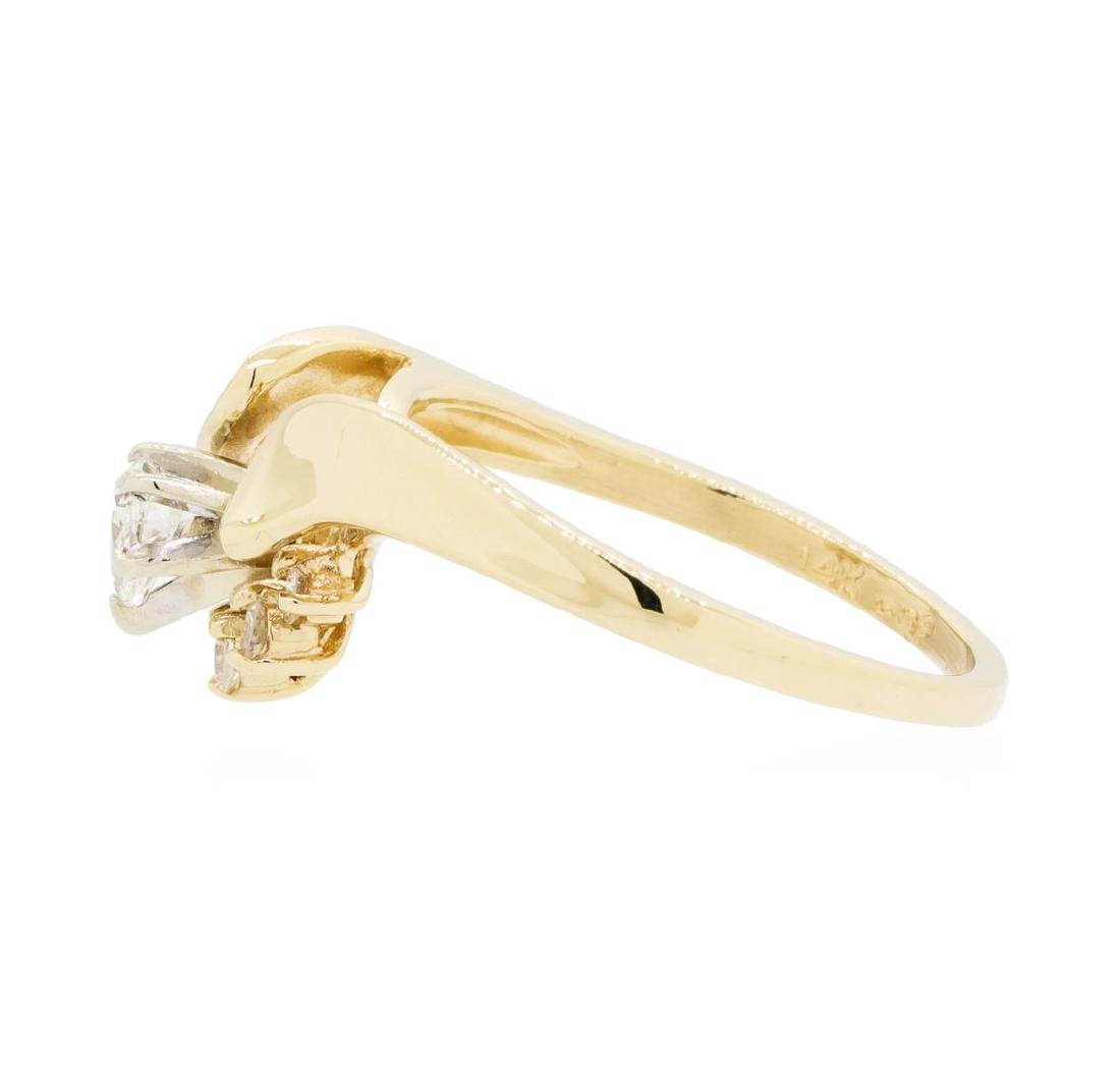14KT Yellow Gold Lady's 0.25 ctw Diamond Ring - 3