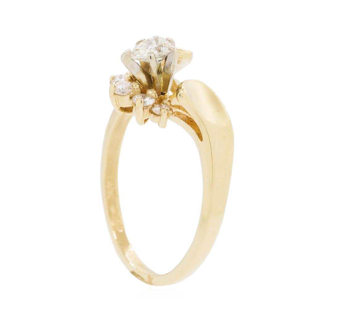 14KT Yellow Gold Lady's 0.25 ctw Diamond Ring - 4