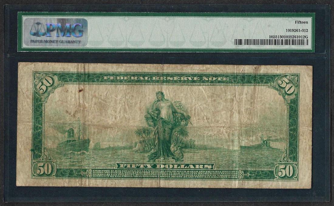 1914 $50 Federal Reserve Note Philadelphia Fr.1035 PMG - 2