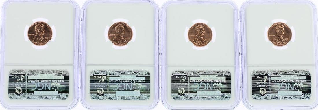 Lot of (4) 2009-D Birth & Childhood Lincoln Cent Coins - 2