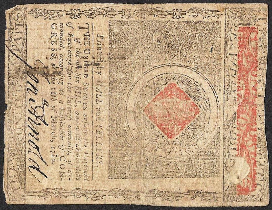 July 2, 1780 $7 Rhode Island Colonial Currency Note - 2
