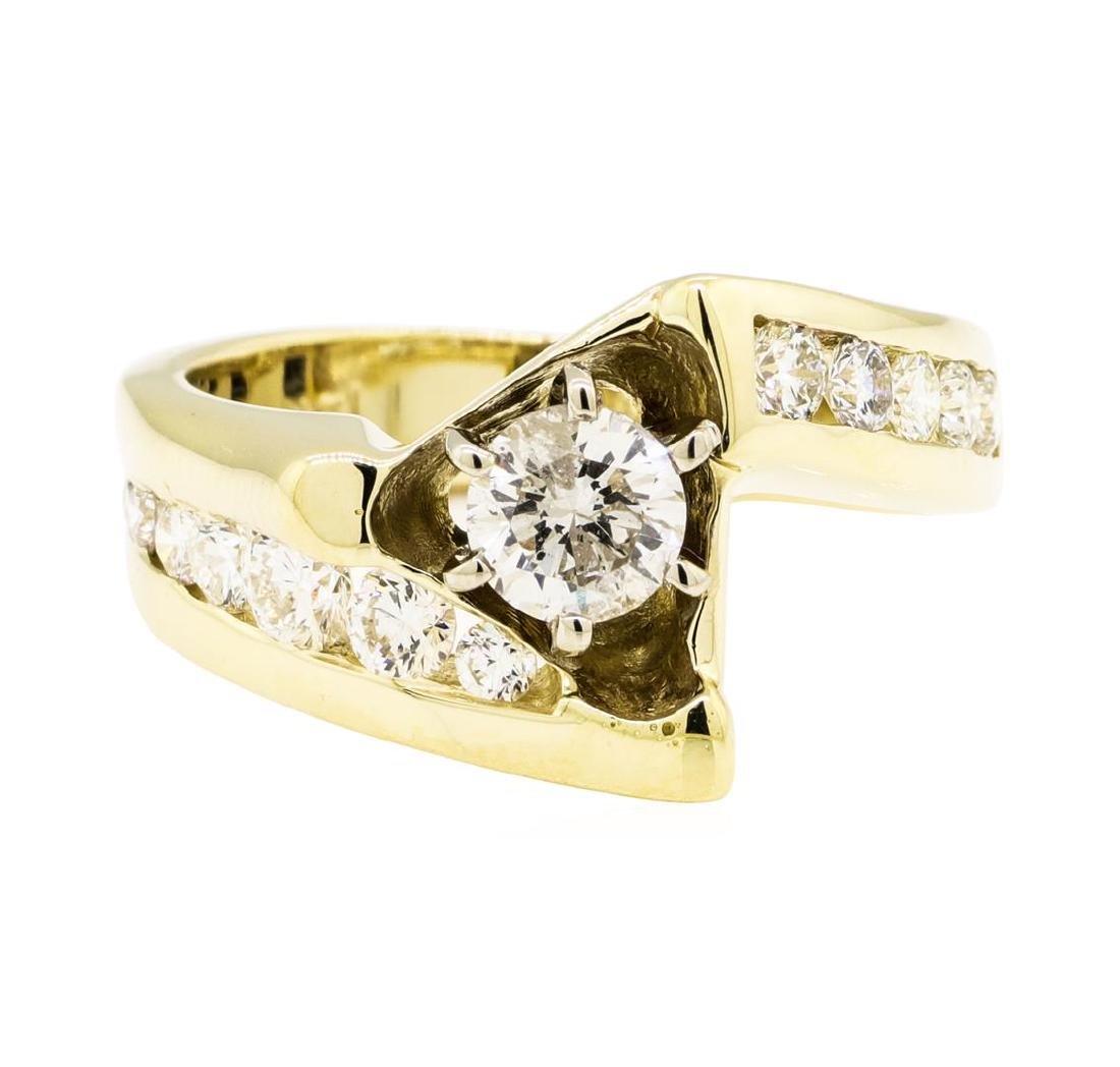 14KT Yellow Gold 1.29 ctw Diamond Ring - 2