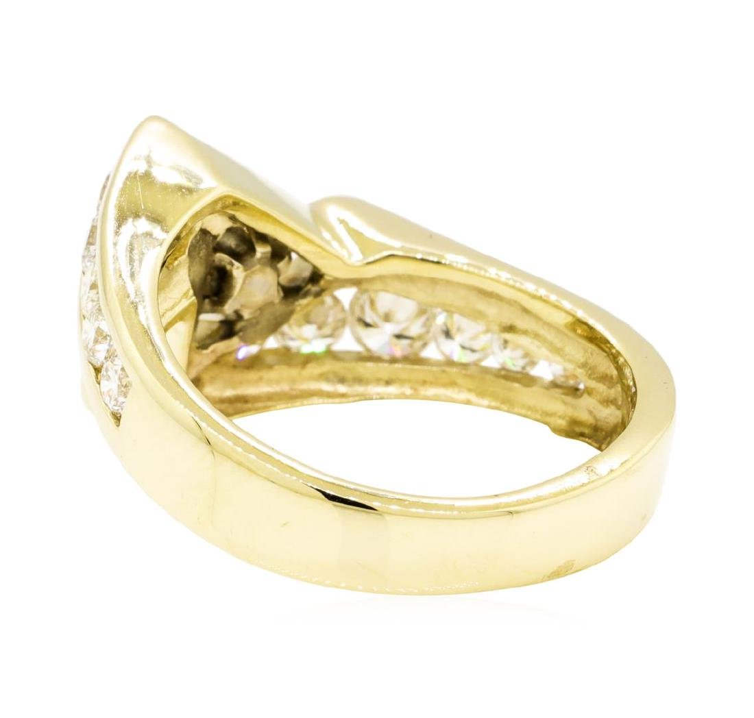 14KT Yellow Gold 1.29 ctw Diamond Ring - 3