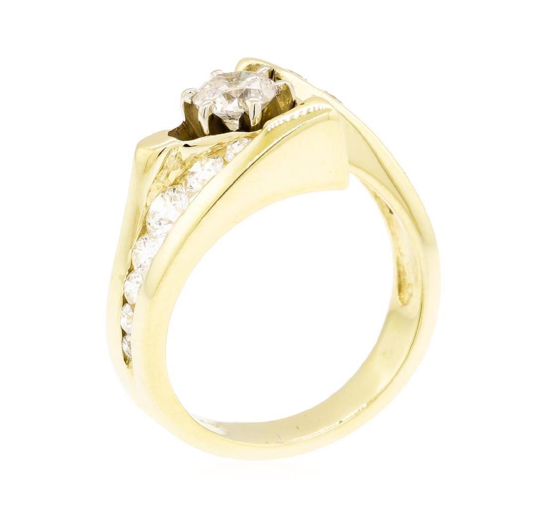 14KT Yellow Gold 1.29 ctw Diamond Ring - 4