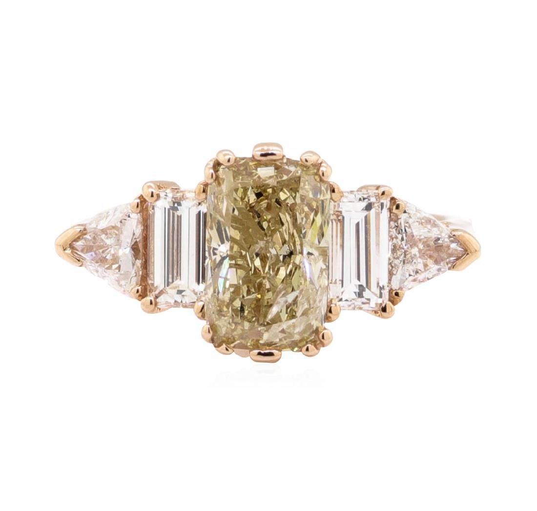 14KT Rose Gold 2.64 ctw Diamond Ring - 2