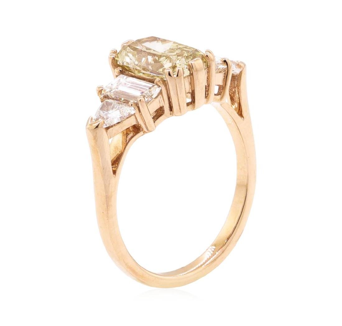 14KT Rose Gold 2.64 ctw Diamond Ring - 4