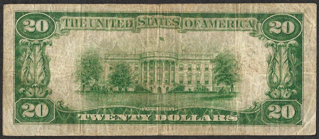 1929 $20 Federal Reserve Bank Note Philadelphia - 2