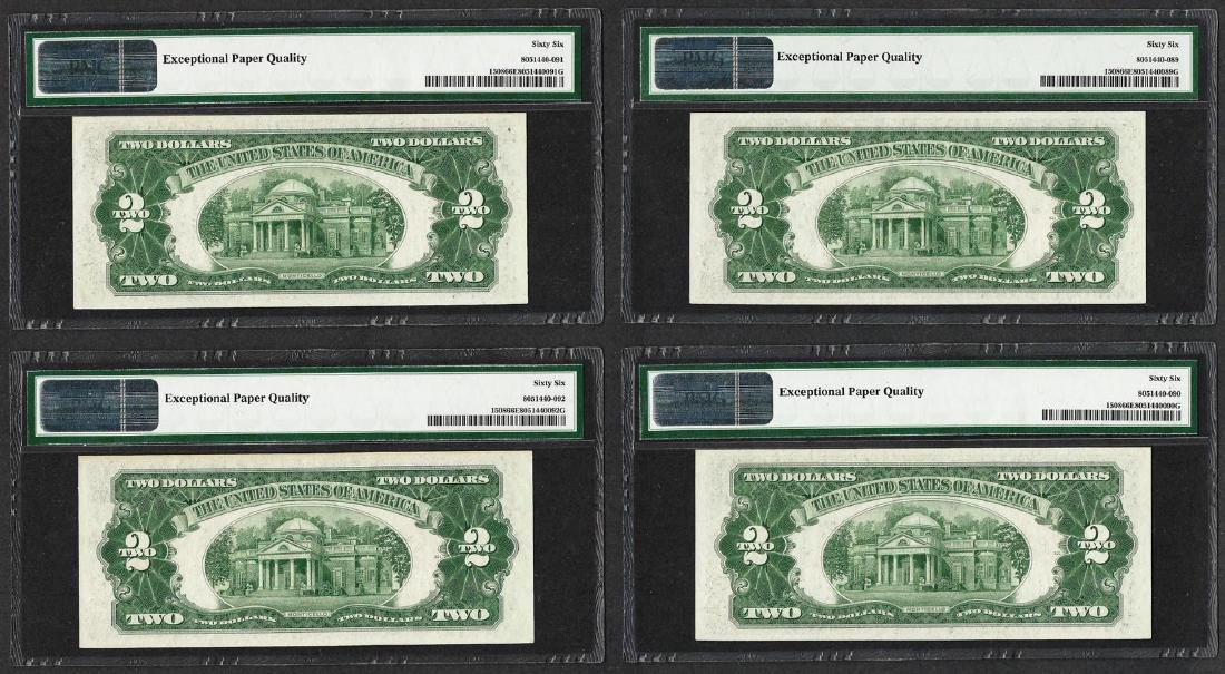 Lot of (4) Consecutive 1928G $2 Legal Tender Notes - 2