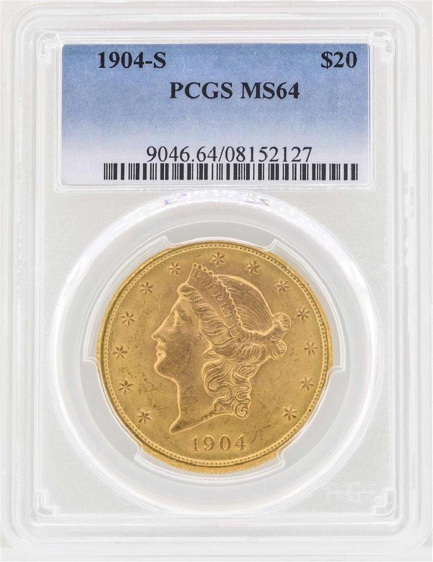 1904-S $20 Liberty Head Double Eagle Gold Coin PCGS
