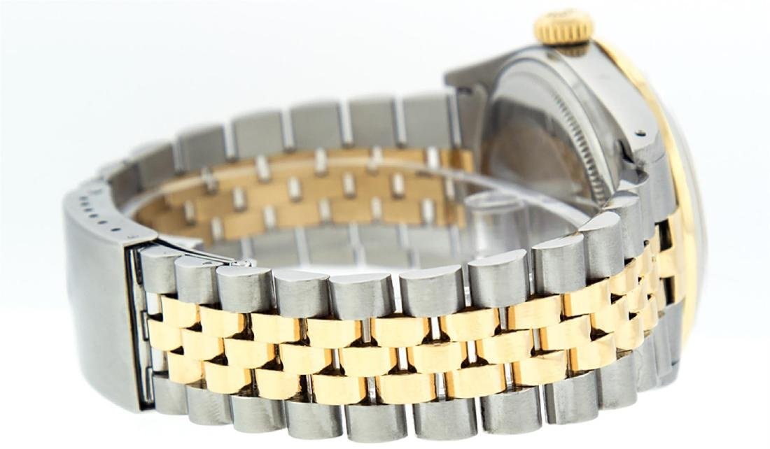 Rolex Men's Two Tone 14K Silver Diamond & Ruby Datejust - 6