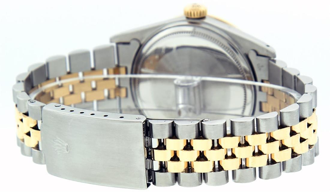 Rolex Men's Two Tone 14K Silver Diamond & Ruby Datejust - 7