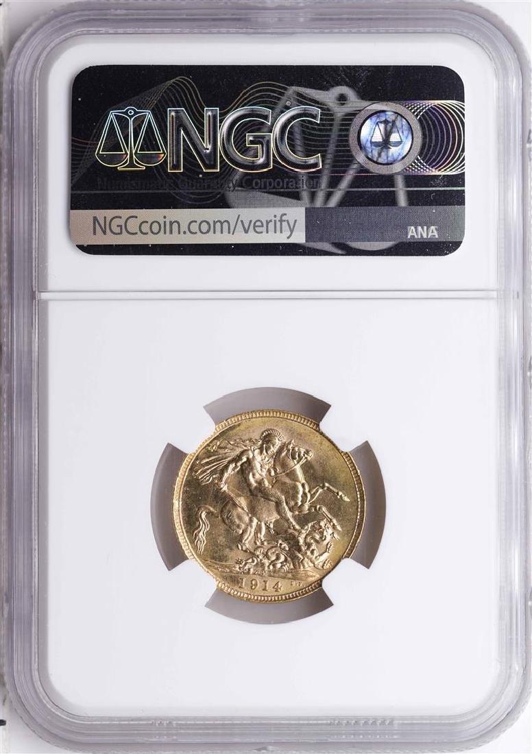 1914S Australia Sovereign Gold Coin NGC MS64 - 2