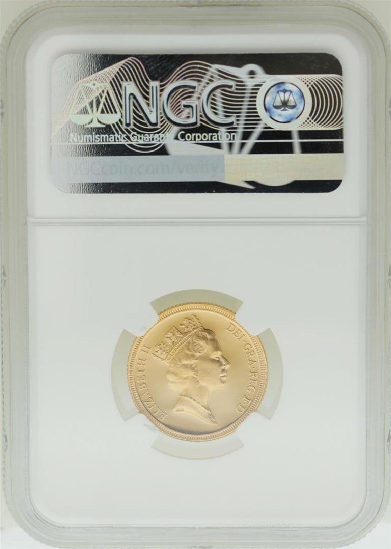 1987 Great Britain Sovereign Gold Coin NGC PF68 Ultra - 2