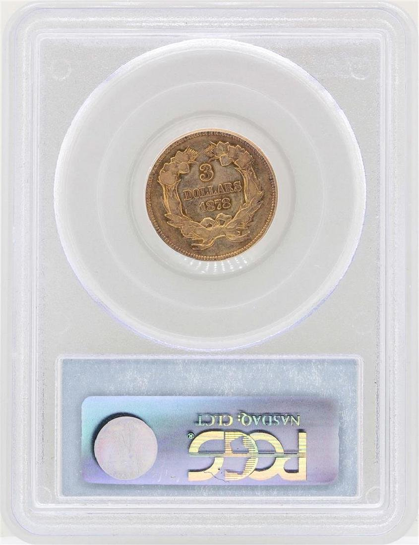 1878 $3 Indian Princess Head Gold Coin PCGS VF25 - 2