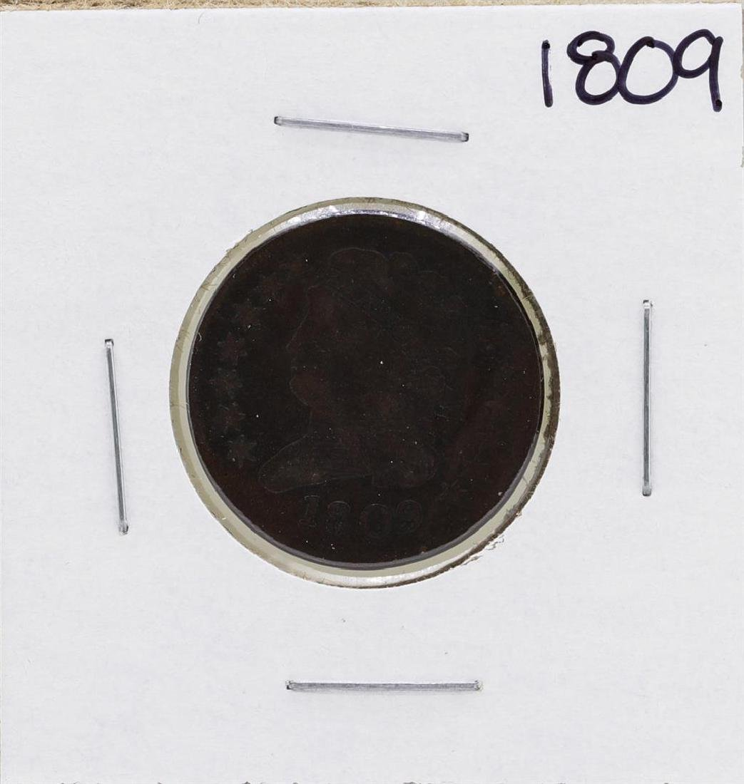 1809 Draped Bust Half Cent Coin