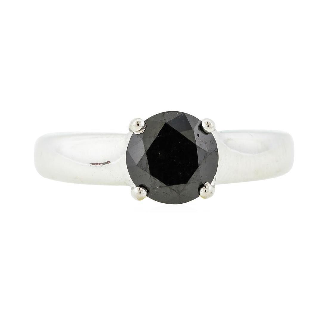 14KT White Gold 1.28 ctw Black Diamond Ring