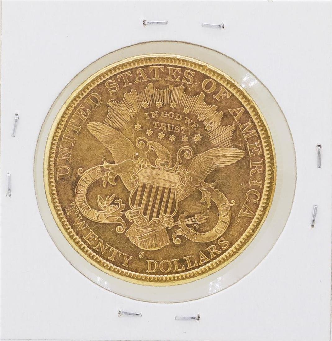 1884-S $20 Liberty Head Double Eagle Gold Coin - 2
