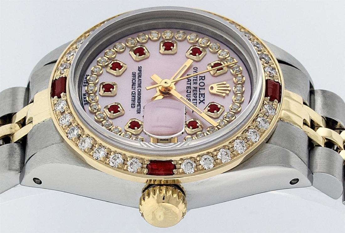 Rolex Ladies Two Tone 14K Pink MOP Diamond & String - 3