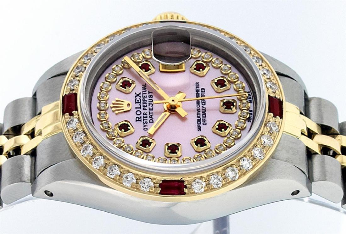 Rolex Ladies Two Tone 14K Pink MOP Diamond & String - 4