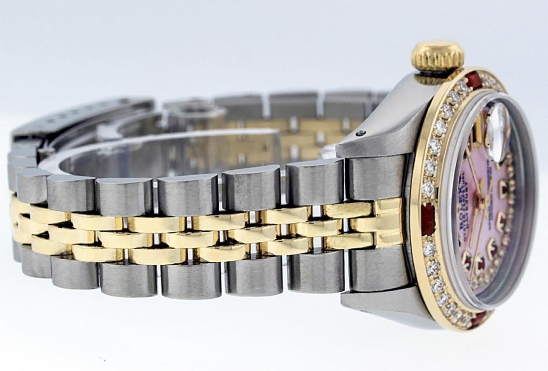 Rolex Ladies Two Tone 14K Pink MOP Diamond & String - 5