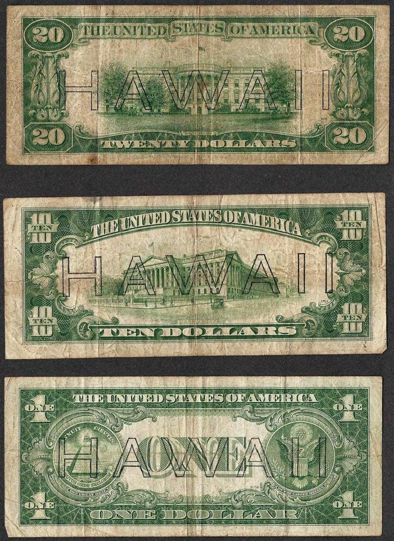 Lot of 1935A $1 & 1934A $10/$20 Silver Certificate WWII - 2