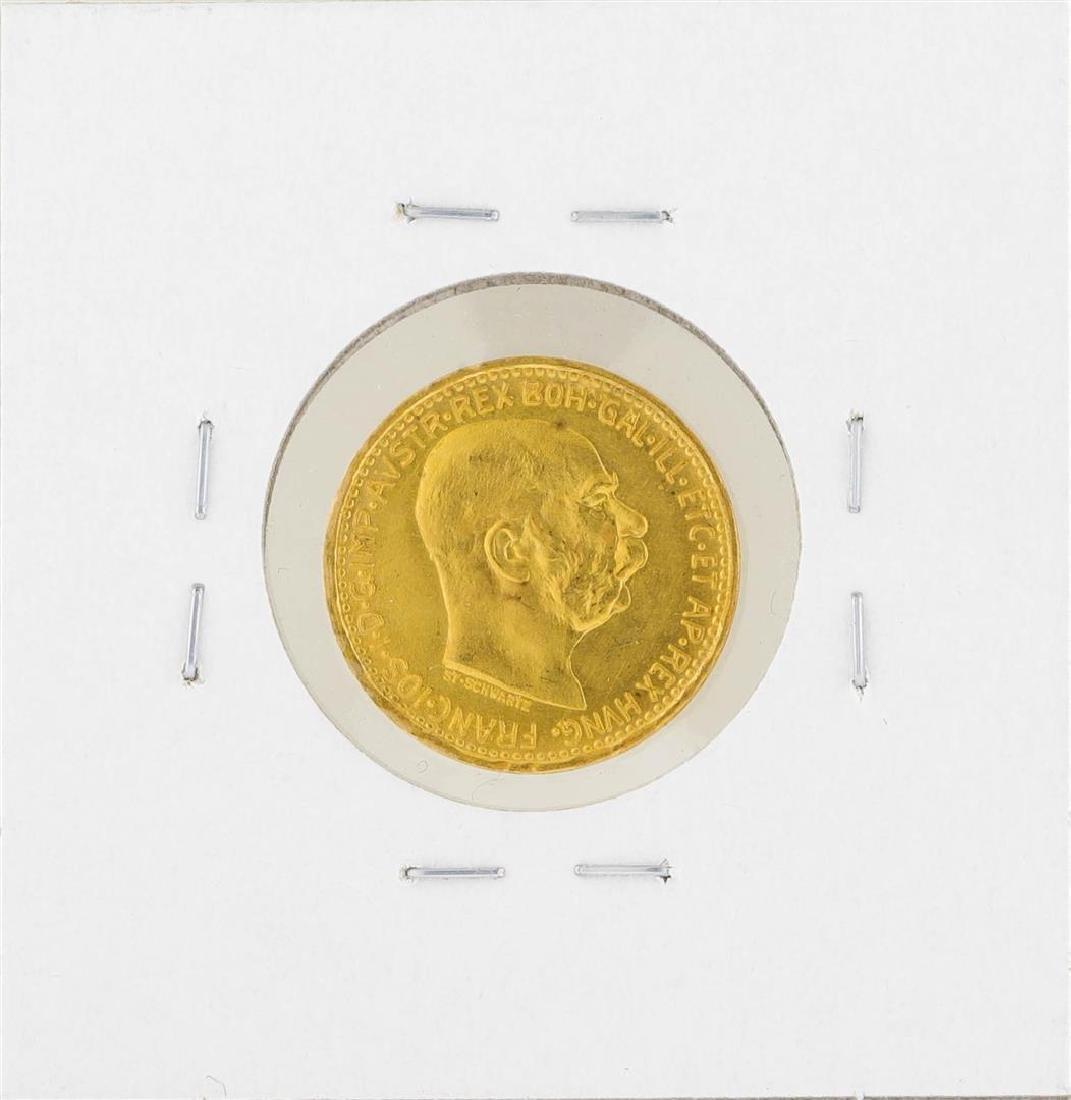 1912 Austria 10 Corona Gold Coin - 2