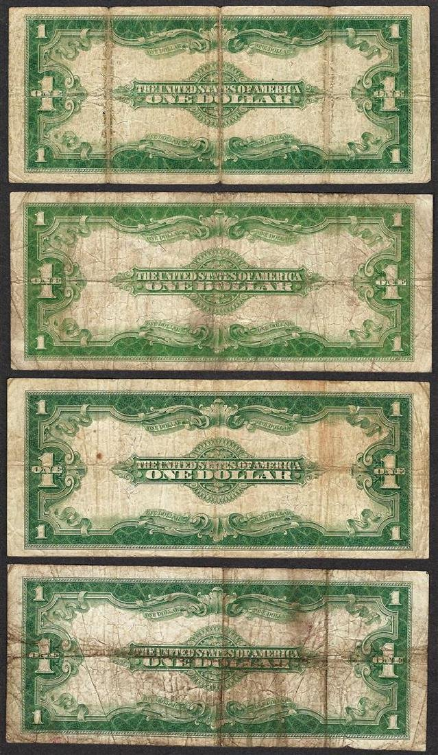 Lot of (4) 1923 $1 Silver Certificate Notes - 2