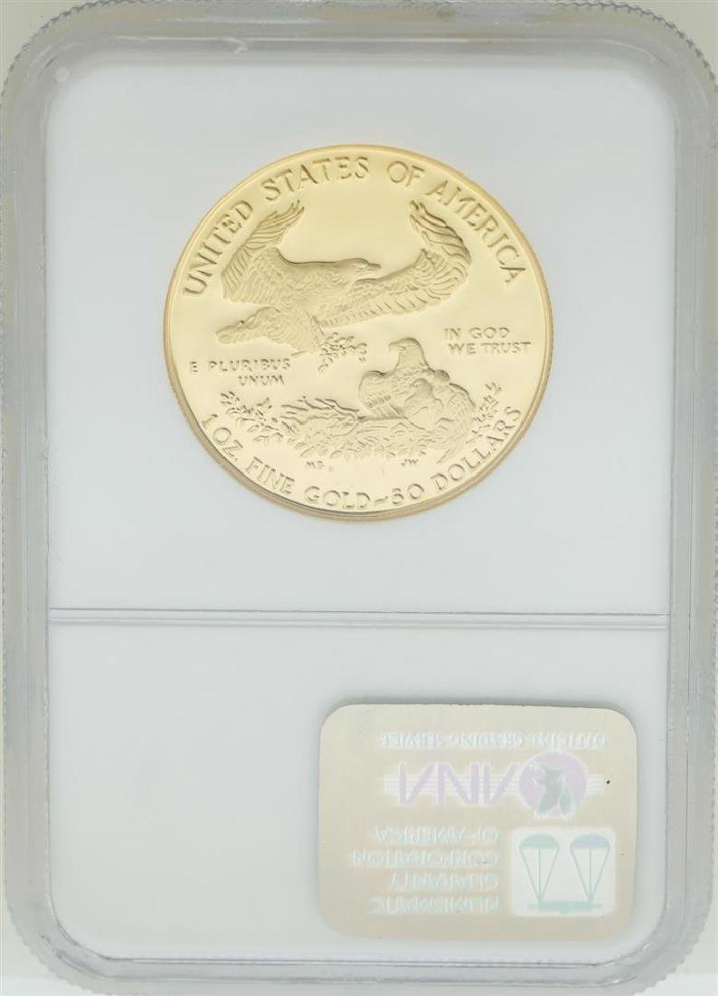 1989-W $50 American Gold Eagle Coin NGC PF70 Ultra - 2