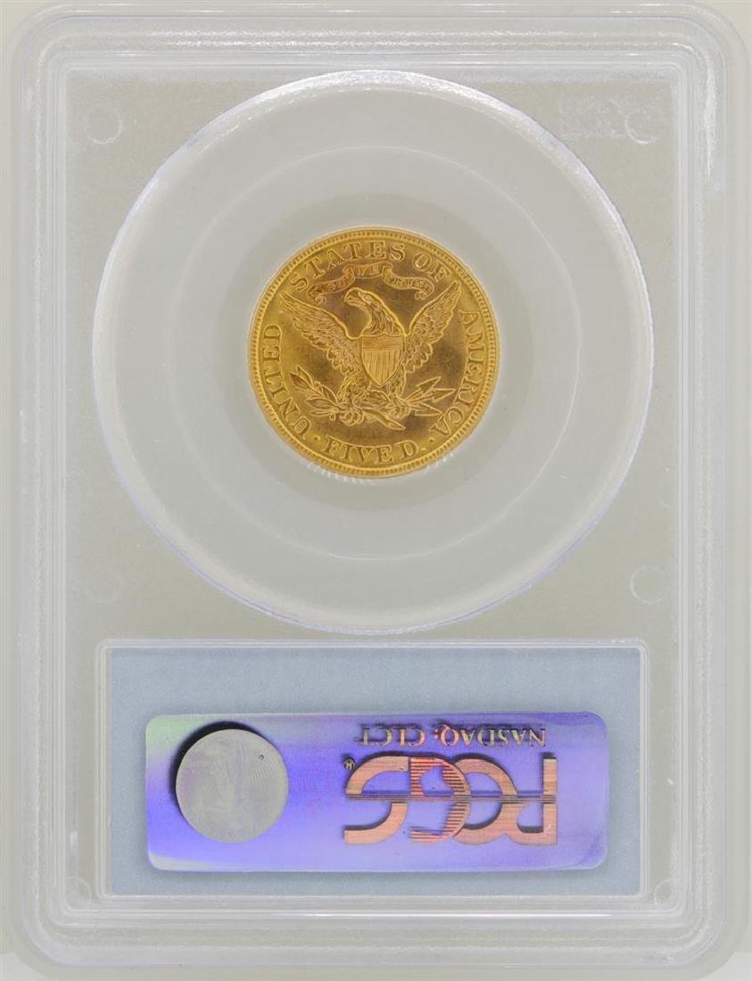 1908 $5 Liberty Head Half Eagle Gold Coin PCGS MS62 - 2