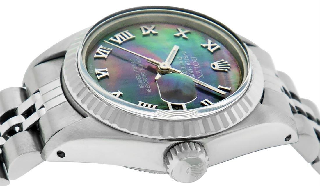 Rolex Ladies Stainless Steel Tahitian MOP Roman 26MM - 4