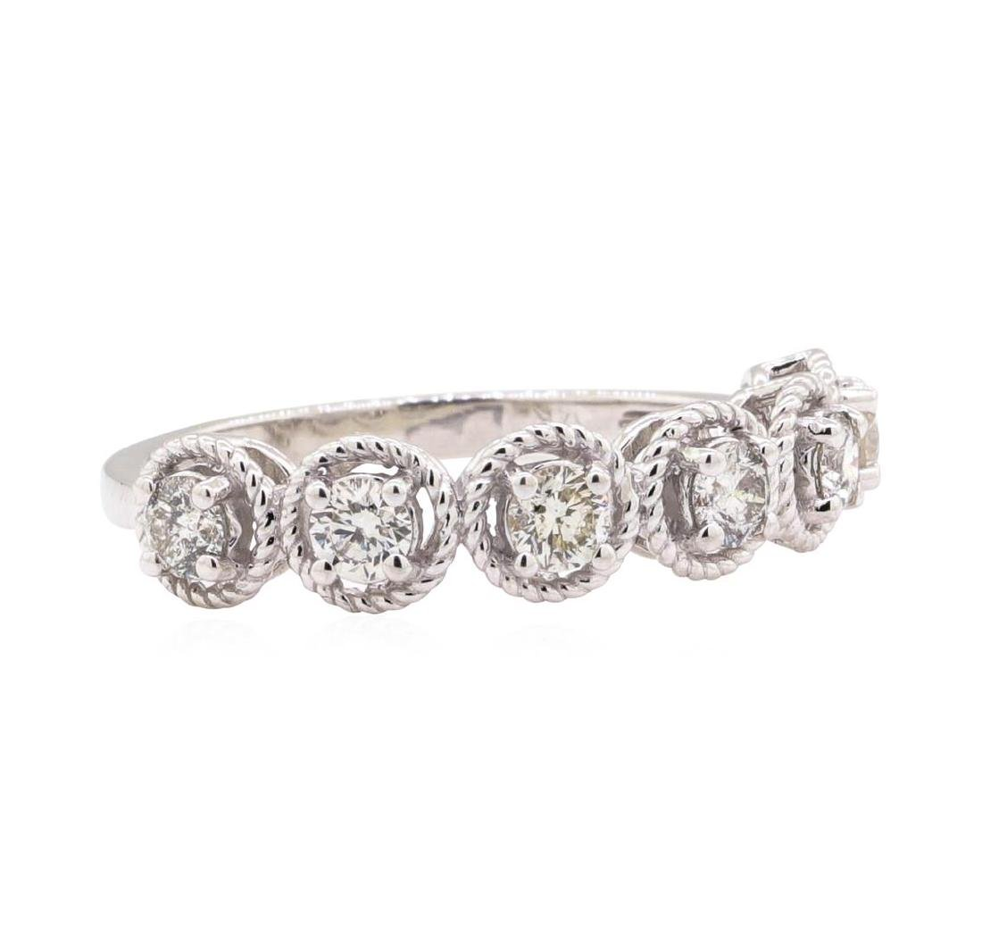 14KT White Gold 0.63 ctw Diamond Ring