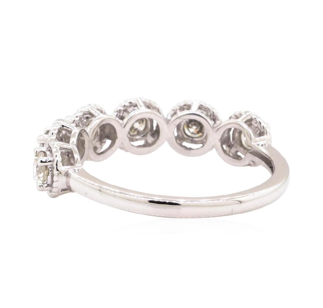 14KT White Gold 0.63 ctw Diamond Ring - 3