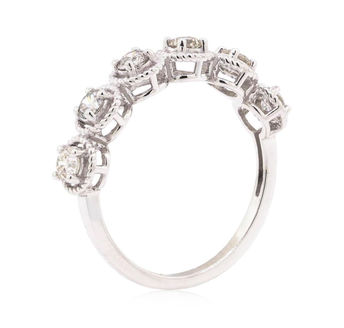 14KT White Gold 0.63 ctw Diamond Ring - 4