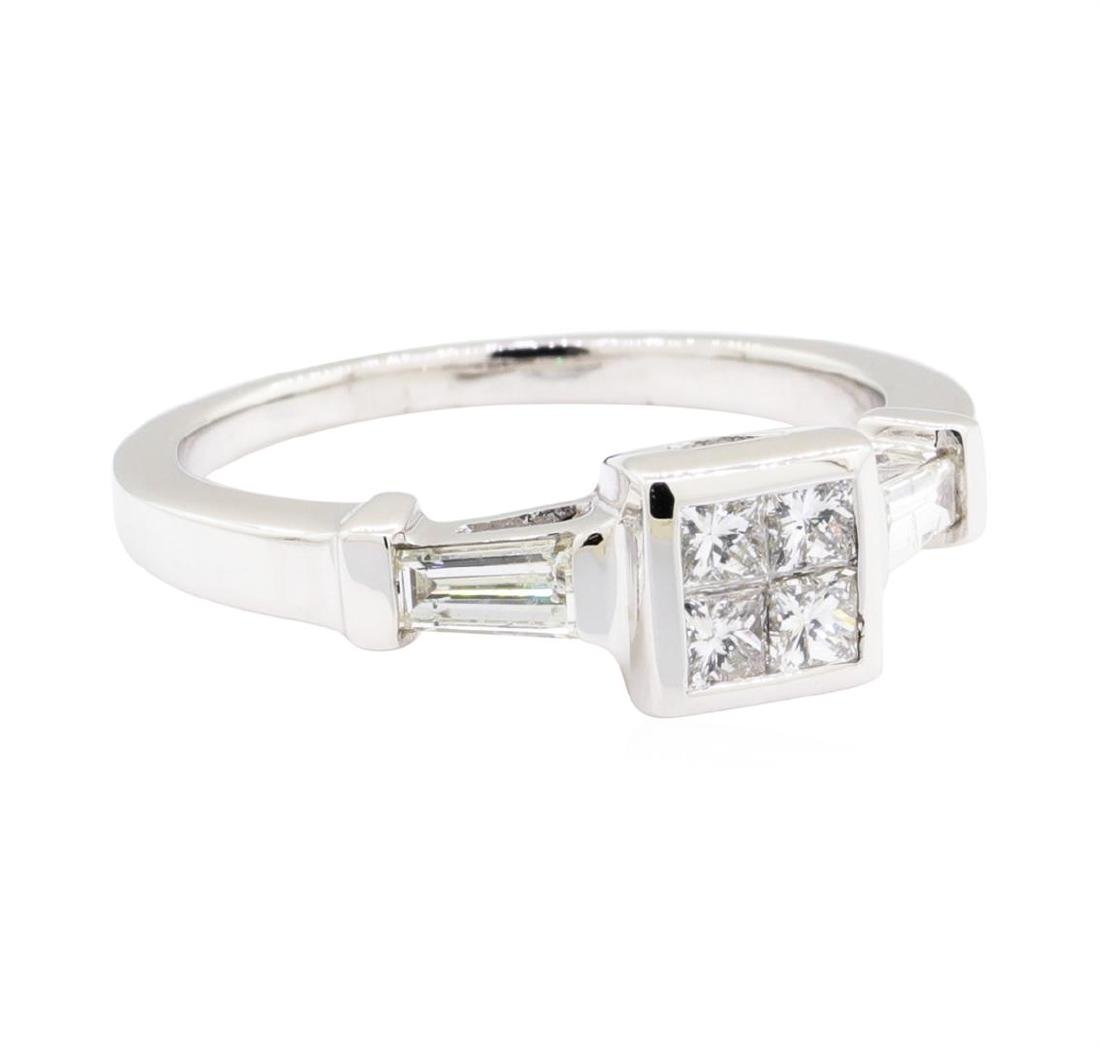 18KT White Gold 0.60 ctw Diamond Engagement Ring