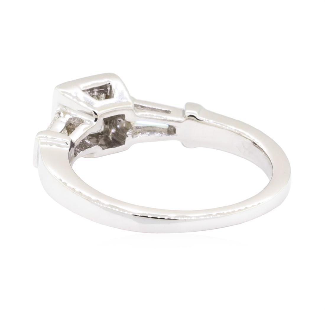 18KT White Gold 0.60 ctw Diamond Engagement Ring - 3