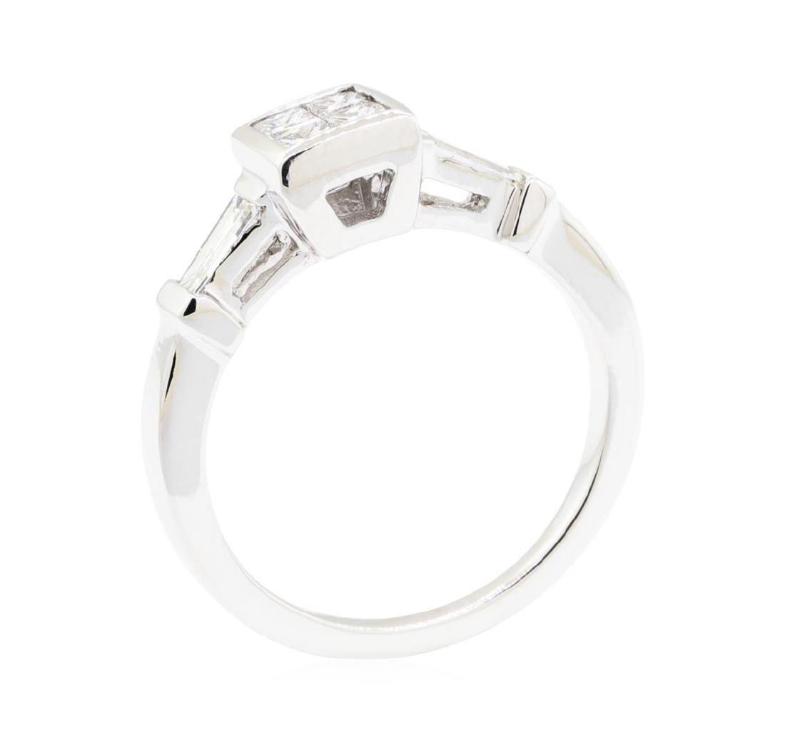18KT White Gold 0.60 ctw Diamond Engagement Ring - 4