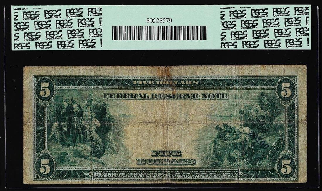 1914 $5 Federal Reserve Note New York Fr.850 PCGS Fine - 2