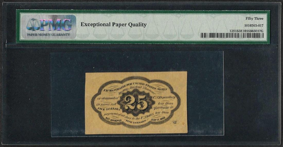 1862 25 Cent First Issue Fractional Currency Note - 2
