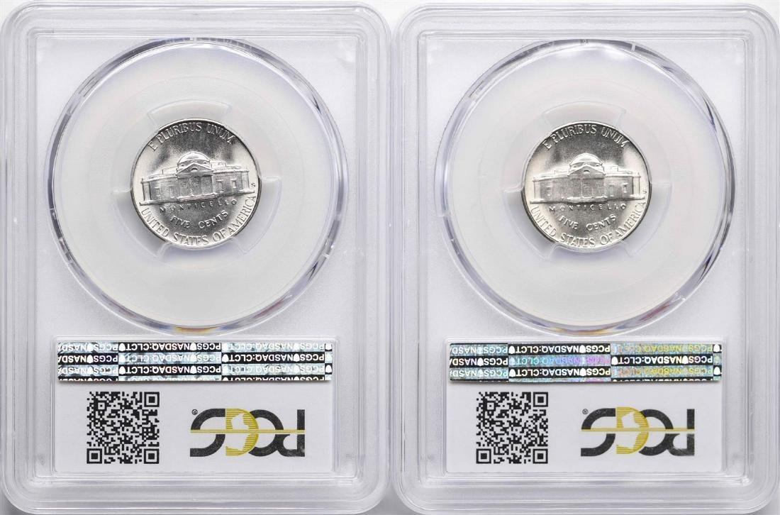 Lot of (2) 1948-S Jefferson Nickel Coins PCGS MS66 - 2