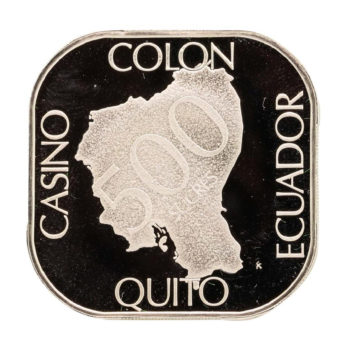 Casino Colon Quito Ecuador 21 gram .925 Sterling Silver